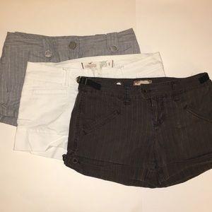 Lot 3 Shorts Pinstripe Free People Kensie Holister